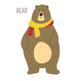 bear cartoon funny cute animal vector image
