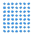 Big set of all type jigsaw pieces in different vector image vector image
