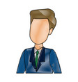 businessman portrait character person profile vector image vector image