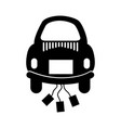 car of newlyweds icon vector image vector image