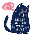 cat 002 vector image vector image