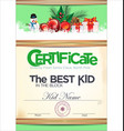 certificate best kid in the block vector image vector image