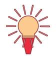christmas bulb vector image vector image