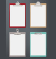 clipboard realistic paper blank tablet office vector image