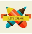 Crossed Pencil and Pen vector image vector image