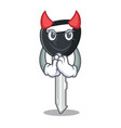 devil mascot ilustration featuring on car key vector image