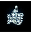 Diamond Like Thumb Up Sign vector image vector image