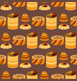 east delicious dessert sweets food eastern vector image