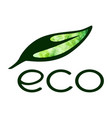 eco logo isolated on white background vector image vector image