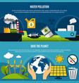 ecology and pollution banners set vector image vector image