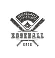 emblem baseball tournament vector image vector image