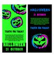 halloween party flyer set halloween night party vector image vector image