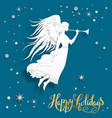 happy holiday card vector image