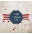 Happy Memorial Day patriotic Emblem with Text vector image vector image