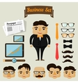 Hipster character elements for business man vector image vector image