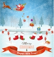 light plane with Santa claus vector image