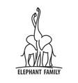 logo template elephant vector image vector image