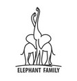 logo template of elephant vector image