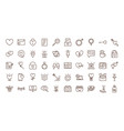 love heart romantic passion feeling related icons vector image vector image