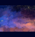 magic night dark blue sky with sparkling stars vector image