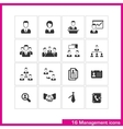 Management icon set vector image vector image