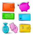 Money Icons Business Symbols Isolated Retro Money vector image