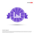 music sound wave icon - purple ribbon banner vector image