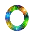 Number of colorful firework zero vector image vector image