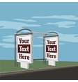 Outdoor advertising Banner on the Bus Station vector image