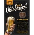 Poster to oktoberfest festival Hands holding beer vector image vector image