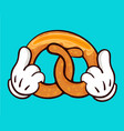 pretzel and holding hands vector image vector image