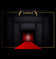 red carpet concept background golden frame vector image