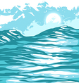 sea waves against sky vector image vector image