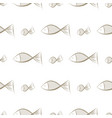seamless abstract fish background design art vector image