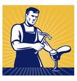 shoemaker shoe repair cobbler vector image
