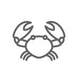 simple crab line icon symbol and sign vector image vector image
