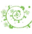 spiral green vector image
