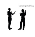 Standing Declining pose on white background vector image vector image