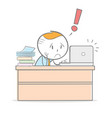 stressed vector image vector image