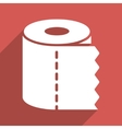 Toilet Paper Roll Flat Longshadow Square Icon vector image vector image