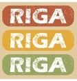 Vintage Riga stamp set vector image vector image