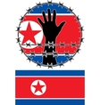 violation of human rights in north korea vector image vector image