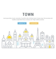 Website Banner and Landing Page Old City vector image vector image
