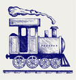 Wild West steam locomotive vector image