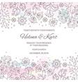 winter wedding invitation vector image vector image
