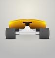yellow longboard vector image
