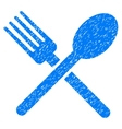 Fork And Spoon Grainy Texture Icon vector image