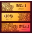 Set of beautiful floral banners Mandala vector image