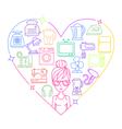 Appliances love heart woman color vector image