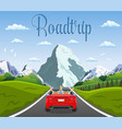 highway drive with beautiful landscape vector image